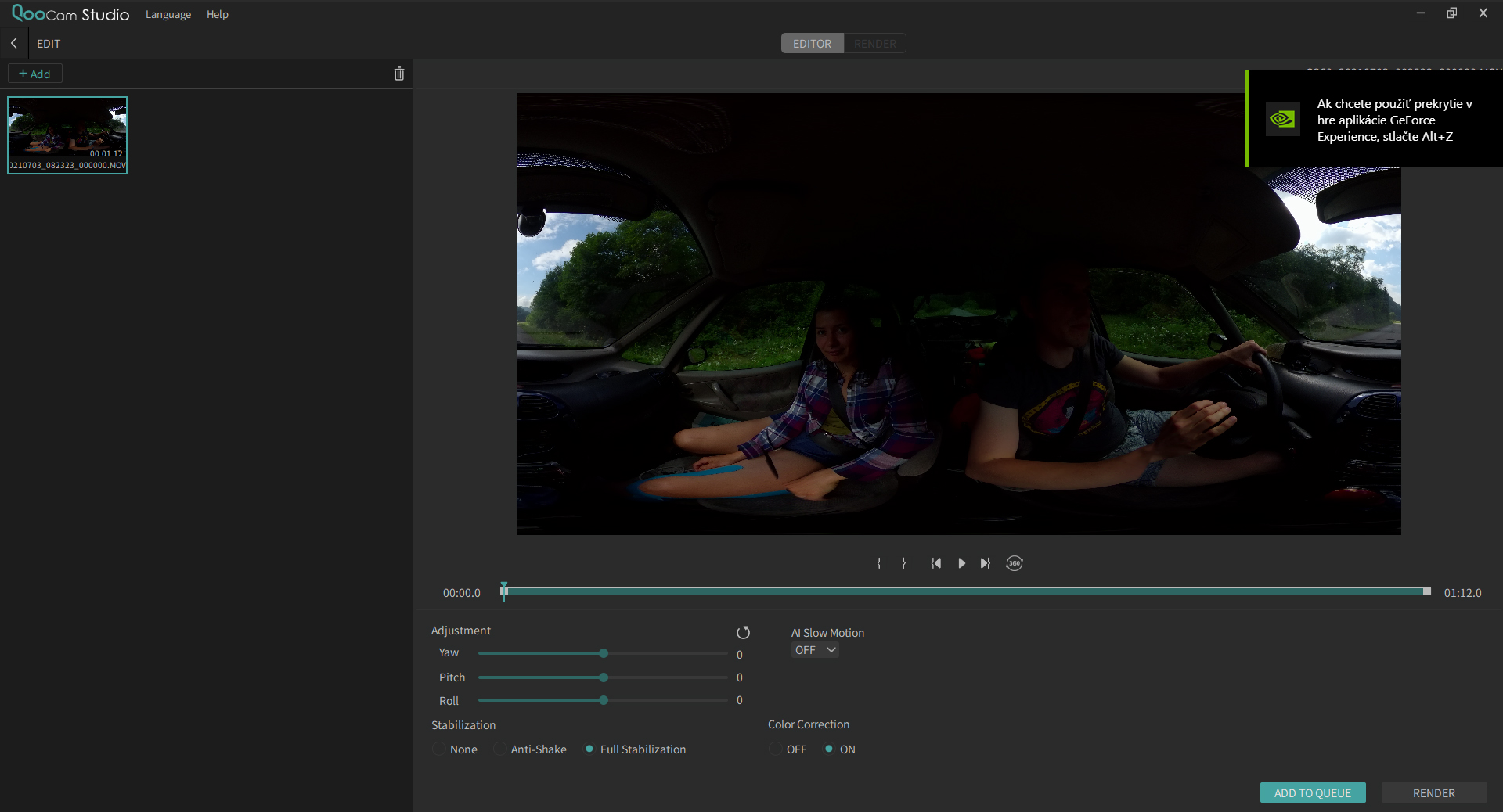 ako natocit 360° video
